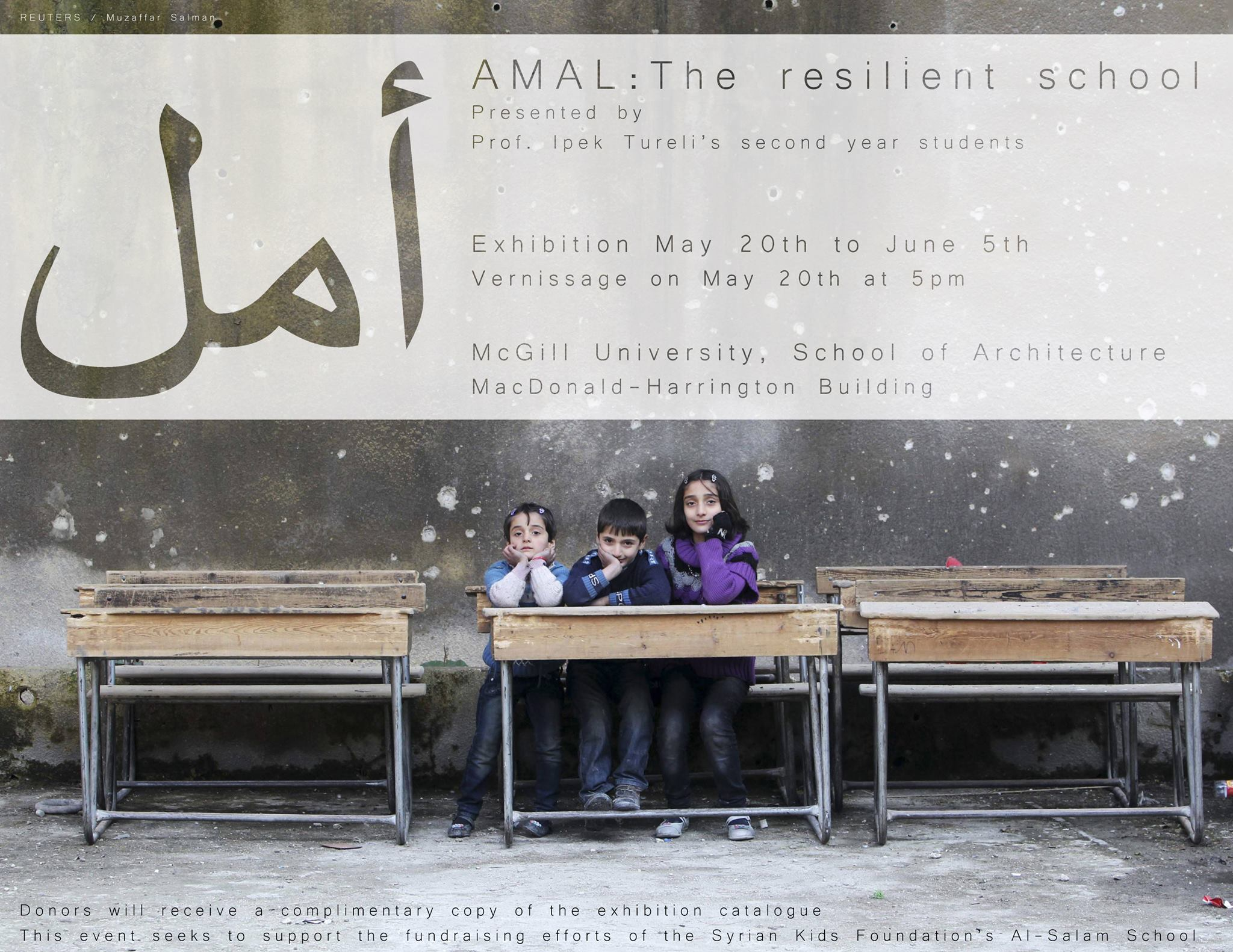 Vernissage Amal The Resilient School Syrian Kids Foundation # Muebles Himher S A